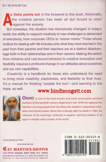Creativity - Unleashing the Forces Within - Osho, Book for Sale